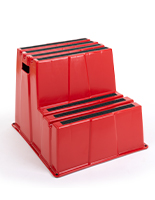 Stackable polyethylene stair step stool