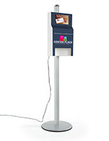 Branded custom hand sanitizer station with 10.1 digital sign