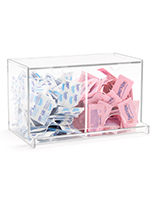 10 inch wide double bulk packet holder
