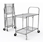 Folding steel utility cart with 30.5 inch height