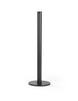 16-inch tall black floor mount gallery stanchion