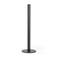 16-inch high black floor mount gallery stanchion with small diameter base