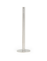 16-inch high silver fixed post art gallery stanchion