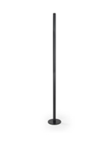 39-inch high black surface mount art stanchions with 5-inch diameter base