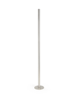 39-inch tall silver art gallery fixed floor stanchion