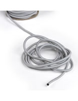 Unraveled 100-Ft Gray Elastic Stanchion Cord