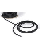 50-ft Black Elastic Barrier Cord off the Spool