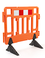 Crowd control traffic barricade with HDPE material