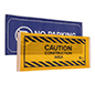 29.5 inch wide barrier sign