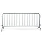Crowd control barricade with silver galvanized steel