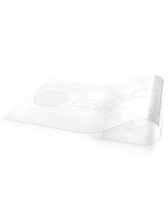60-inch wide x 30-inch tall clear branded acrylic stanchion panel