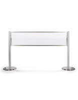 "60""w x 15""h clear acrylic line barriers"