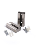 Stainless steel rigid stanchion barrier wall bracket