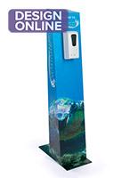 CIM体育tom cardboard sanitizer floor dispenser with UV digital printing