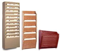 metal and wood file holders