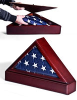 Use this flag shadow box to display your military memorabilia.