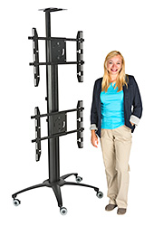 flat screen display rack with dual VESA mounts