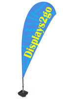 Teardrop Flag with 3 Color Printing