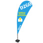 Teardrop Flag with Full Color Printing