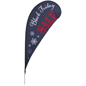 """Black Friday"" Teardrop Flag with Predesigned Graphics"