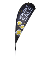 11' tall black christmas sale flag