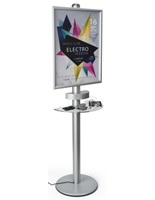 Mobile Device Charging Kiosk with 6 Plugs