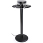 Bar Height Charging Table with Round Shelf