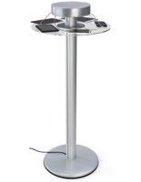 Silver Pub Height Power Charging Table