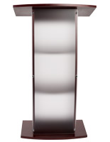Frosted replacement panel for FLCT series lecterns with fingerprint reducing opaque finish