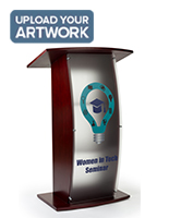 UV printed frosted replacement panel for FLCT series lecterns with personalized artwork