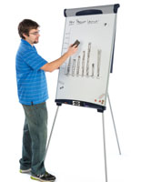 Flip Chart Easel with Clips & Portable Design