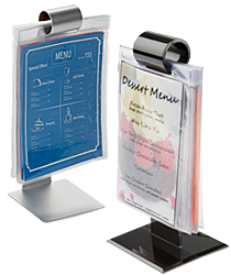 Menu holder flip stand for restaurants and bars