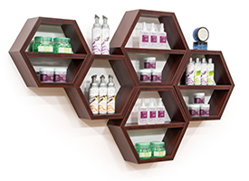 Honeycomb Retail Wall Shelving