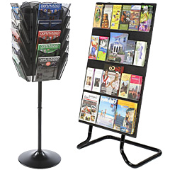 Floor Standing Literature Holders with Adjustable Pockets