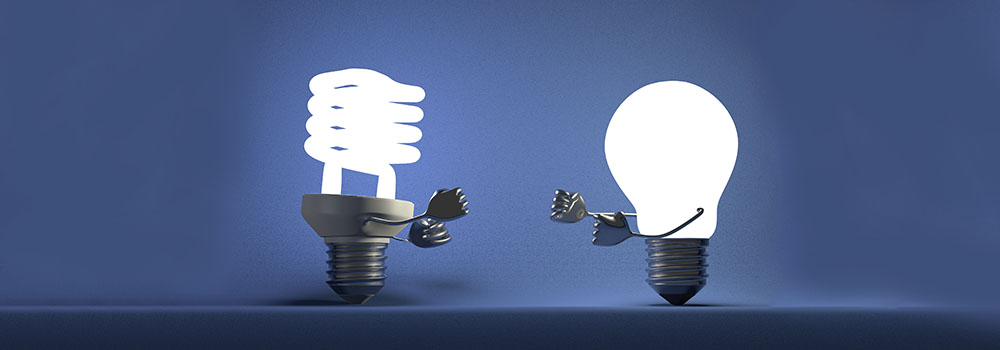 Flourescent vs led light bulbs