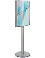 Curved 22 x 28 Poster Stand with Silver Finish