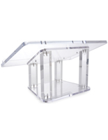Clear Acrylic Tabletop Lectern for Presentations