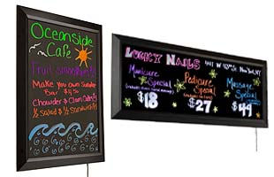 Illuminated Write-On Signs