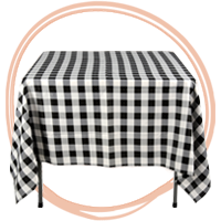 Checkered and Custom Table Cloths