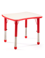 Red Height Adjustable Children's Table
