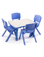 Blue Play Table and Chairs