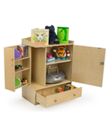 early learning storage cabinet