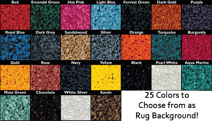 25 rug colors to choose from!