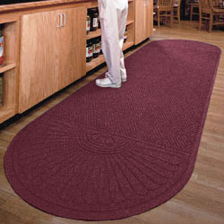 Maroon Floor Mat Measures 6' x 10'