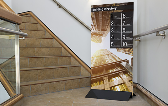 Foam core signs offer excellent portability thanks to their lightweight construction