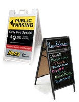Buy a folding sign today and start advertising outside your restaurant or retail store.