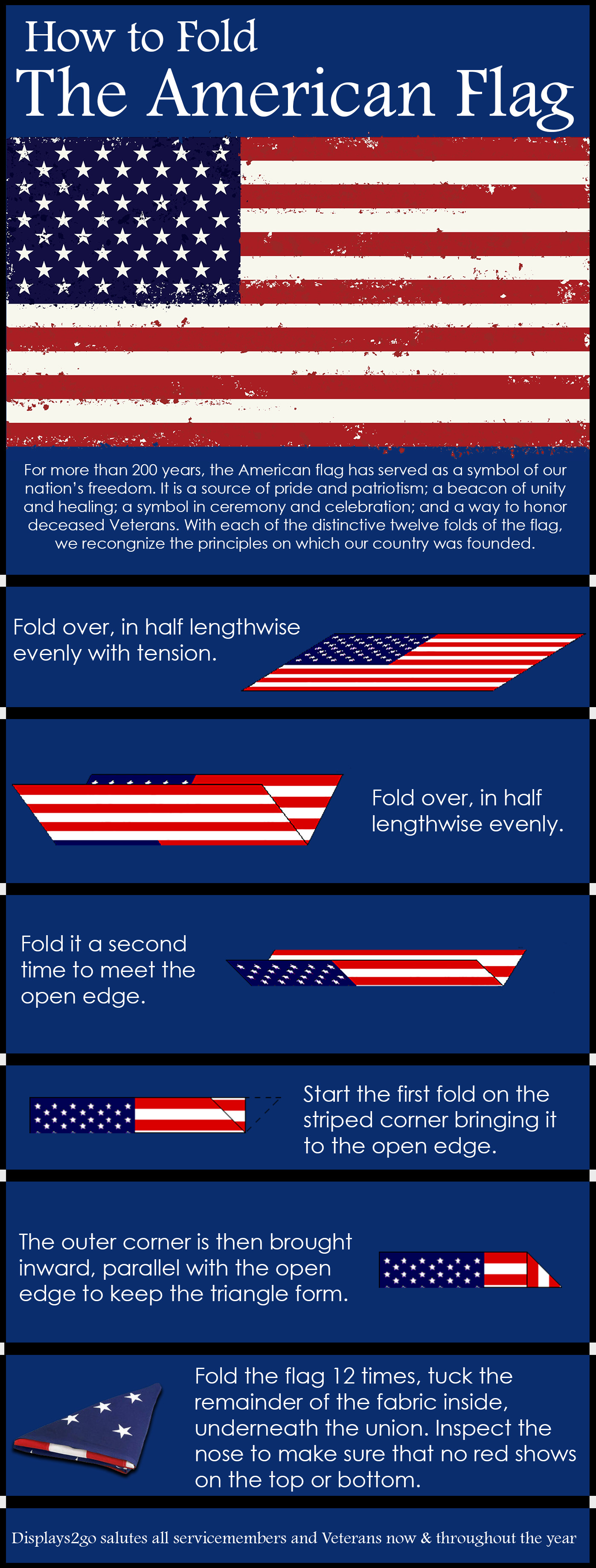 Proper Flag Folding Instructional