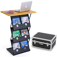 Trade Show Literature Stand with Carrying Case