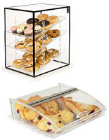 These food bins and display cases are ideal for selling pastries, cookies or other treats.