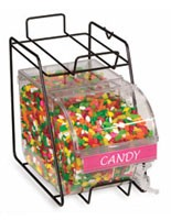 Food displays hold candy in retail stores!